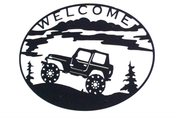 custom, design, jeep, outdoor, mountain, adventure, priority1signs, steel, plasma, cut, sign,